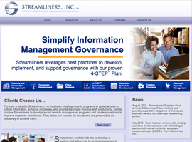 Streamliners website design